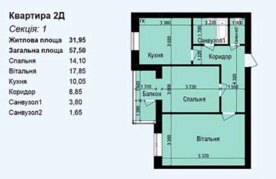 Продам двухкомнатную квартиру , р-н Замостье